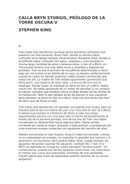calla bryn sturgis, prólogo de la torre oscura v stephen king