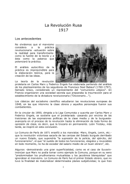 La Revolución Rusa 1917