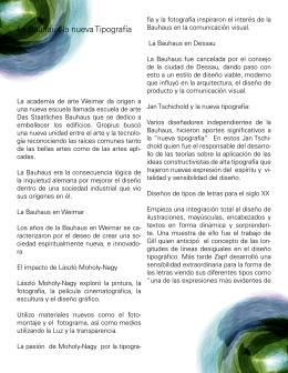 La Bauhaus la nueva Tipografía jds - TALLER5-HISTDISENO8A-B