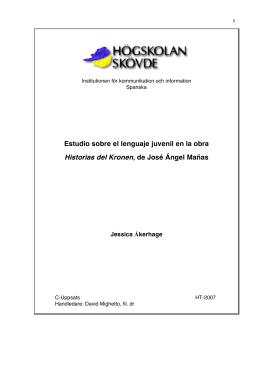Estudio sobre el lenguaje juvenil en la obra Historias
