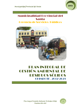 2012 - Municipalidad Provincial del Santa