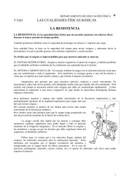 LAS CUALIDADES FÍSICAS BÁSICAS LA RESISTENCIA