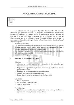 PROGRAMACION DE DISGLOSIAS