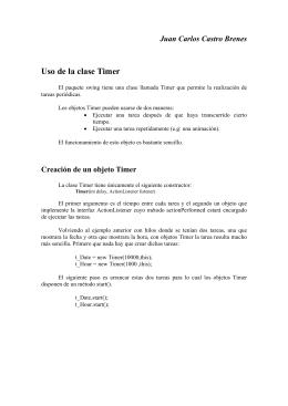Uso de la clase Timer - Curso de Programación en Java