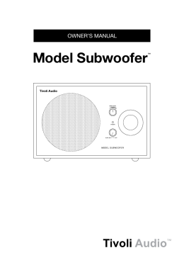 Model Subwoofer™ - Tivoli Audio UK