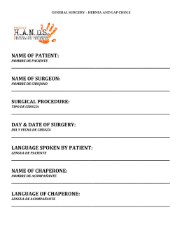 name of patient - Project HANDS Society