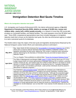 Immigration Detention Bed Quota Timeline