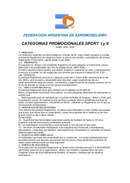 FEDERACION ARGENTINA DE AEROMODELISMO CATEGORIAS