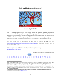April 22, 2014 - Department of Linguistics :: University at Buffalo