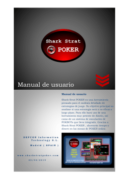 Manual de usuario - Shark Strat Poker