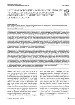 LA TEORÍA BIOGEOGRÁFICA DE FLORENTINO AMEGHINO Y EL