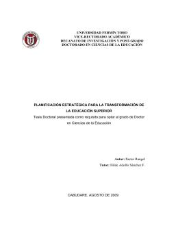 universidad fermín toro vice-rectorado académico - CIDAR.