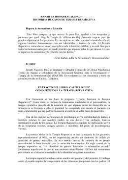 SANAR LA HOMOSEXUALIDAD: HISTORIAS DE CASOS DE