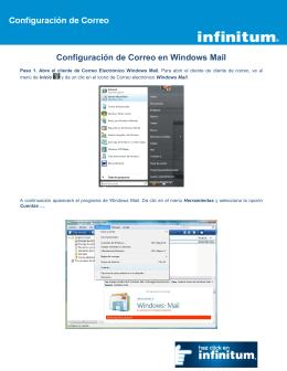 Configuración de Correo en Windows Mail