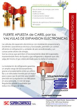 Válvulas de expansión electrónicas