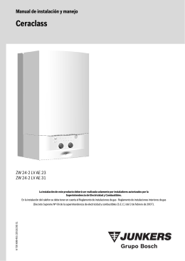 Caldera Ceraclass Smart ZW24-2 AE Cámara Estanca