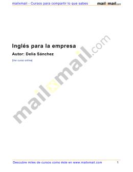 Inglés para la empresa