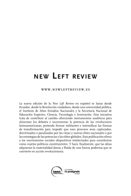 new Left review 87 - Editorial - Instituto de Altos Estudios Nacionales