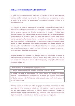 RELAJACION PROGRESIVA DE JACOBSON