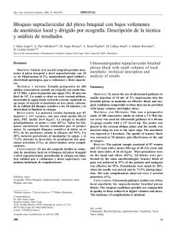 Bloqueo supraclavicular del plexo braquial