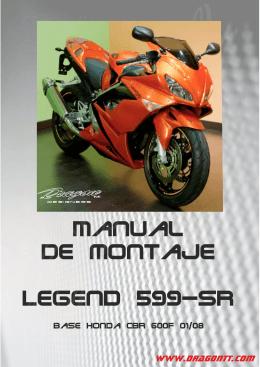 Manual Legend 599 SR
