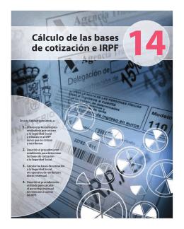 Cálculo de las bases de cotización e IRPF