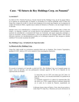 """Caso: """"El futuro de Rey Holdings Corp. en Panamá"""""""