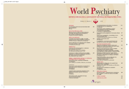 Edición en Español - World Psychiatric Association