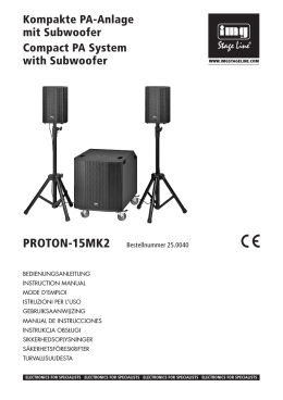 Kompakte PA-Anlage mit Subwoofer Compact PA System