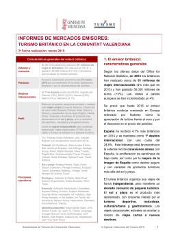informes de mercados emisores - Agencia Valenciana de Turismo