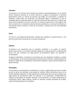 Teorema Lema Axioma Postulados
