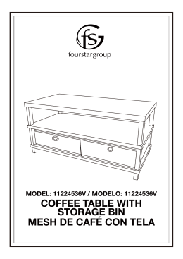 coffee table with storage bin mesh de café con tela