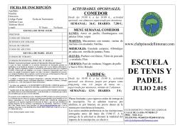 ESCUELA DE TENIS Y PADEL