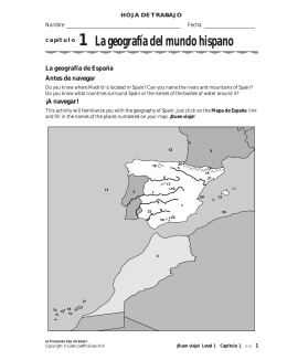La geografía del mundo hispano