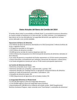 Datos Actuales del Banco de Comida del 2014