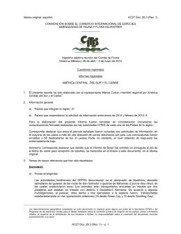 AC27 Doc. 26.3 (Rev. 1) – p. 1 Idioma original: español AC27