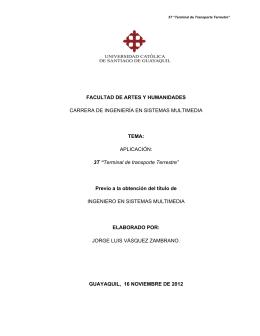 """3T """"Terminal de transpo - Universidad Católica de Santiago de"""