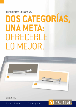 pdf Instrumentos Sirona T3 y T4 Dos categorías, una meta