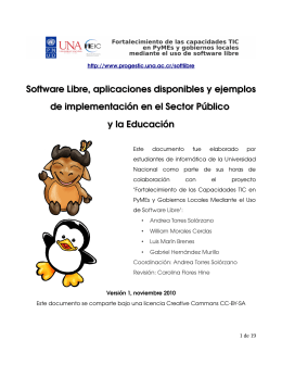 Software Libre, aplicaciones disponibles y ejemplos de