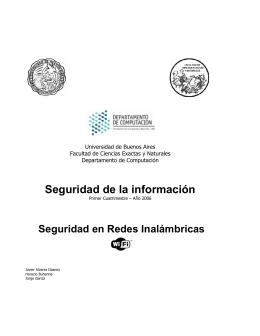 Seguridad de la información - Universidad de Buenos Aires
