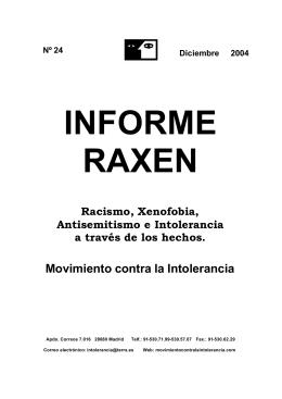 Raxen 24 - Movimiento contra la Intolerancia