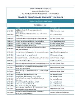 Listado de TT`s 1996 - escom - Instituto Politécnico Nacional