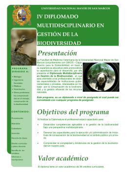 IV Diplomado en gestión de la biodiversidad
