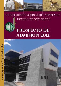 prospecto de admision 2012 - Universidad Nacional del Altiplano