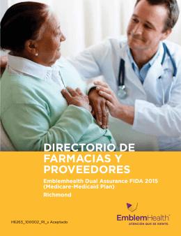 DIRECTORIO DE FARMACIAS Y PROVEEDORES