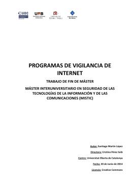Programas de vigilancia de Internet