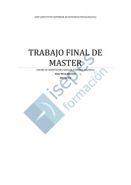 TRABAJO FINAL DE MASTER