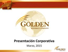 Presentación Corporativa - Golden Minerals Company