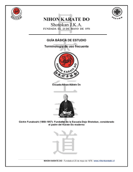 NIHON KARATE DO Shotokan J.K.A.