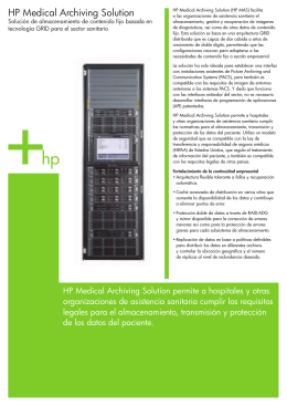 HP Medical Archiving Solution